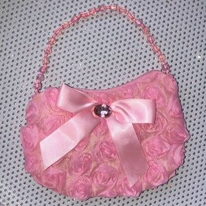 Y2K bag bow roses pink pastel purse vintage